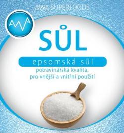 Epsomská sůl potravinářská(Awashop.cz)