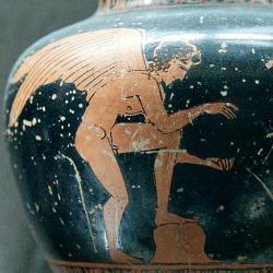 Erós v letech 430–425 před. n. l. Louvre. Kredit: Shuvalov Painter (via Marie-Lan Nguyen alias Jastrow), Wikimedia Commons.