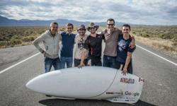 Letošní vítězné Lehokolo ETA z dílny AeroVelo, má délku 1,40 metru a jezdí 137,93 km/h. (Kredit: AeroVelo)