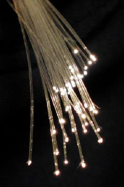 Optická vlákna. Kredit: BigRiz / Wikimedi Commons.