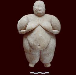Turecká venuše je z kamene a stará 8000 let.  (Kredit: turecké ministerstvo kultury a cestovního ruchu).