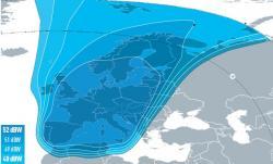 Předběžné pokrytí satelitu Eutelsat 5 West B, evropský svazek (Kredit: Eutelsat)