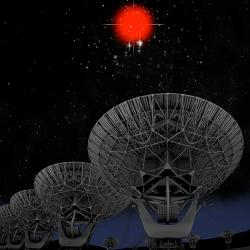 Co jsou zač rychlé rádiové záblesky? Kredit: Bill Saxton, NRAO, AUI, NSF, Hubble Legavy Archive, ESA, NASA.