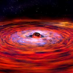 Jak asi vypadají zdroje rychlých rádiových záblesků? Kredit: NASA / Dana Berry.