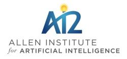 Allen Institute for Artificial Intelligence, logo.