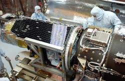 I když družice GALEX, kterou vynesla na oběžnou dráhu Pegasus XLv roce 2003 již svůj úkol splnila, data, která získala se zužitkovávají dodnes. (Kredit: NASA)