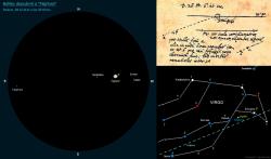 Galileiho záznam pozorování Neptunu, 28. 12. 1612 z Padovy. Kredit: Fernando de Gorocica, Wikimedia Commons
