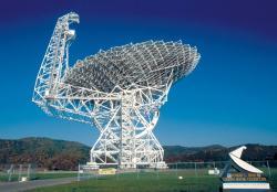 Radioteleskop Green Bank. Kredit: NRAO / AUI / NSF.