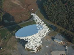 Teleskop Green Bank. Kredit: NRAO.