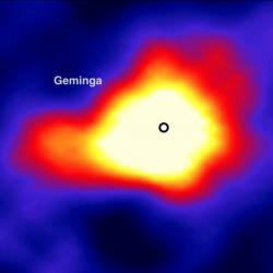 Gama snímek pulzaru Geminga. Kredit: John Pretz / HAWC.