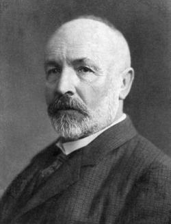 Georg Ferdinand Ludwig Philipp Cantor byl významný německý matematik, logik a luterán. Kromě matematiky se, především v pozdějším věku, velmi věnoval teologii, zejména ve vztahu k vlastní práci týkající se nekonečna.