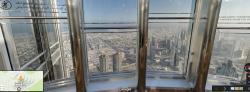 Hosté vyšších pater Burdž Chalífa se budou i na pasažéry EHangu dívat poněkud svrchu (Google steet wiev)