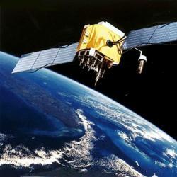 Satelit sítě GPS. Kredit: NASA.