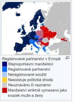 Autor: Silje L. Bakke,Same sex marriage map Europe.svg, CC BY-SA 3.0