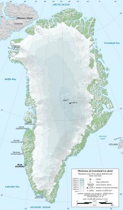 Chybně stanovené albedo povrchu Grónska - největšího ostrova na světě, zatížilo předpověď vývoje zemského klimatu ve prospěch alarmistických závěrů. (Kredit: Eric Gaba, Wikimedia Commons)