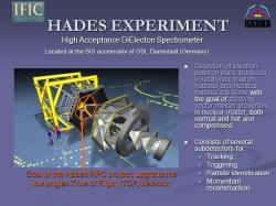 Experiment HADES. Kredit: GSI