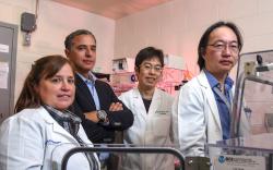 Část kolektivu texaské laboratoře, které se podařilo odhalit méně příjemnou tvář kyslíku. Z leva do prava: Diana Canseco, Hesham Sadek, Wataru Kimura a Yuji Nakada. (Hamon Center for Regenerative Science and Medicine)