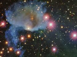 Mezihvězdné plyno-prachové mračno v souhvězdí Orionu. Kredit: Giuseppe Donatiello.
