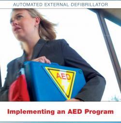 Leták, propagujúci umiestňovanie AED v USA, dáva aj jasné pokyny, ako postupovať, aby bolo zariadenie užitočné a v poriadku po odbornej, technickej aj právnej stránke.