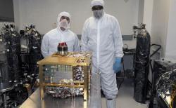 Sample Analysis at Mars (SAM) instrument roveru Curiosity v Goddardově centru pro vesmírné lety, který byl navržen k hledání organických látek na Marsu. Kredit: NASA