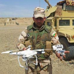 Sestřelený dron ISIS v Iráku. Kredit: Iraqi ministry of defence.