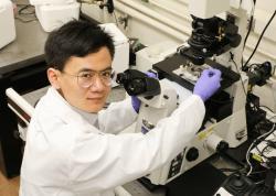 Xian Wang,  vynálezce magnetického nanobota schopného se přesunout do jakéhokoliv místa lidské buňky.