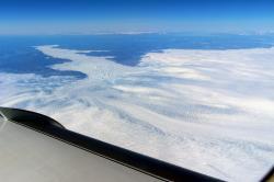 Jakobshavn nyní. Kredit: NASA