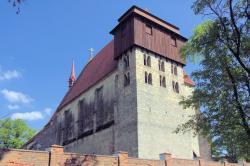 Kostel sv. Jiljí v Milevsku, 1167-1200 a pozdější přestavby. Kredit: Archiv autora článku.