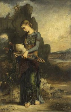 Nález Orfeovy hlavy. Gustave Moreau, 1865. Musée d'Orsay, Paris. Kredit: Google Art Project via Wikimedia Commons.