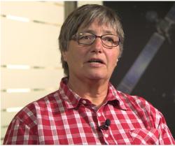 Kathrin Altwegg, astronomka na Univerzitě v Bernu,  vedoucí projektu Rosina. (Kredit: ESA)