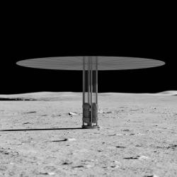 Kilopower na Měsíci. Kredit: NASA.