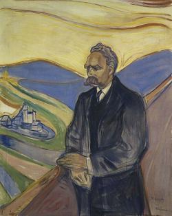 Friedrich Nietzsche. Kredit: Edvard Munch via Thielska Galleriet, Stockholm, Wikimedia Commons.