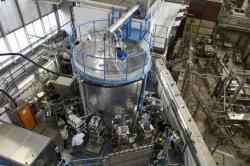 Klimatická komora v níž se vytvářejí a zkoumají podmínky vzniku oblačnosti. (Kredit: European Organization for Nuclear Research, CERN)