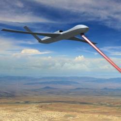 Ubrání se drony antilaserovým laserem? Kredit: General Atomics