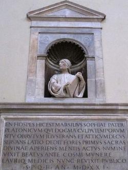 Busta Marsilia Ficina na dómu ve Florencii, 19. století. Kredit: Sailko, Wikimedia Commons . Licence CC 3.0.
