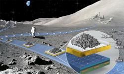 Představa lunárního levitačního dopravníku. Kredit: NASA