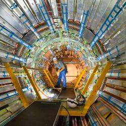 Najdou vědci vdatech LHC nový boson? Kredit: Claudia Marcelloni / CERN.