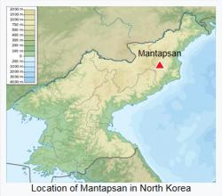 Hora Mantapsan vSeverní Koreji. Kredit: Urutseg / Wikimedia Commons.