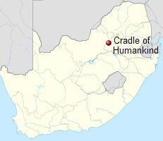 Oblast Cradle of Humankind. Kredit: NordNordWest / Wikipedia Commons.