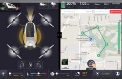 Stačí si na mapě vyznačit trasu a dron sám zjistí, zda ji zvládne. Pak už jen tlačítko start.