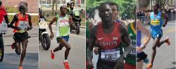 Teď už to nestihnete, protože GW se musí podávat čtyři týdny. Ale kdo ví, třeba už na příštím maratonu budete moci držet krok (z leva do prava) s nepřekonaným Keňanem Dennisem Kimetto, nebo olympijským rekordmanem Samuelem Wanjiru z Keni, eventuelně mistrem světa a keňským policajtem Abelem Kirui, případně s keňským vytrvalcem Franklinem Chepkwony.  Jen pro zajímavost - víte odkud je letošní vítězka Pražského maratonu Valary Aiyabei?  (Kredit: Dirk Ingo Franke, FaceMePLS, Gr5555)