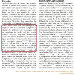 Je ťažko pochopiteľné, že všetky informácie o deficite vitamínu B12 sa točia okolo anémie, keď ju má len menšina pacientov - podľa článku z materiálov rešpektovanej Mayo Clinic len asi 20 %.