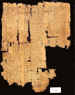 Papyrus z 1. století n. l. s opisem Thúkydidova díla. Kredit: University of Pennsylvania Museum, Wikimedia Commons.
