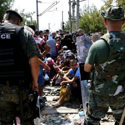 Migranti vMakedonii. Kredit: Bundesministerium für Europa, Integration und Äusseres.
