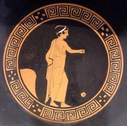 Kluk hraje jojo, 440 před n. l. Altes Museum Berlin. Kredit: Bibi Saint-Pol, Wikimedia Commons.