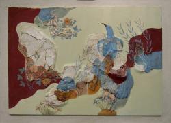 Minojská freska z Knóssu, 1600-1500 před n. l. Archeologické muzeum v Irakliu. Kredit: C messier, Wikimedia Commons.