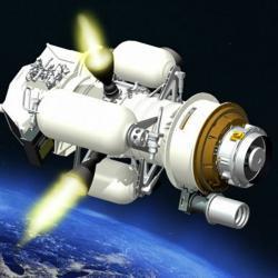 Jeden ze starších návrhů protiraketové obrany Redesigned Kill Vehicle (RKV). Kredit: Raytheon.