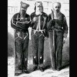 Pitoreskní kostýmy kukluxklanu zroku 1872. Kredit: volně dostupné.