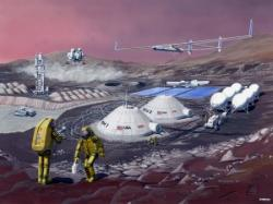 Multifunction Mars Base, Les Bossinas 1991 zdroj: nasa.gov