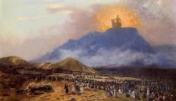 Zpodobnění Boha na hoře Sinaj, Jean-Léon Gérôme (Kredit: Graham Phillips Website)